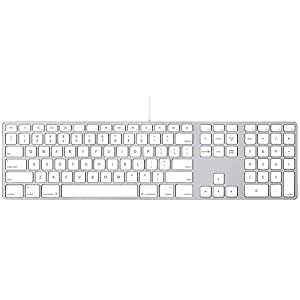 apple aluminum wired keyboard mb110ll a renewed computers accessories. Black Bedroom Furniture Sets. Home Design Ideas