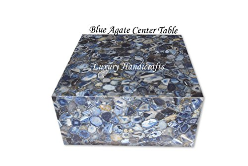 Blue Agate Center Table with Led Light