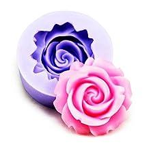 CFHKStore 3D Cake Rose Flower Fondant Mold Cutter Modelling Tools Lovey Good