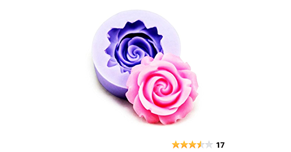 3D big rose silicone mold flowers soap and bath bombs mold flower mold flexible mold fondant mould ice tray cube pudding baking tools