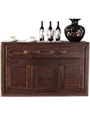 Kitchen Storage Sideboard,Sideboard for Living Roo Black Walnut Buffet Storage Cabinet Living Room Sideboard Accent Table Contemporary Sideboard Buffet Credenza Storage Cupboard for Dining/Living Room