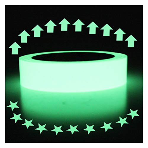 Hylaea Luminous Tape Sticker, 30 feet Length x 1 Inch, High Luminance Glow Removable Waterproof Photoluminescent Glow in The Dark Safety Tape