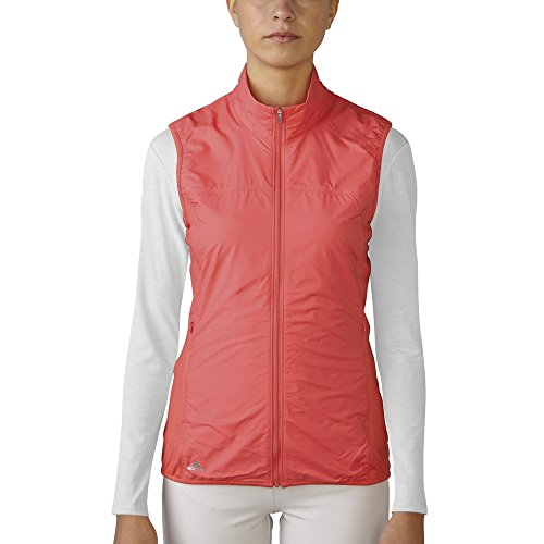 adidas Golf Women's Essentials Wind Tech Vest, Sunset Coral, X-Small - Golf Wind Vests