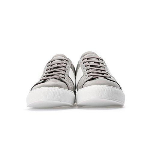 NATIONAL STANDARD Sneakers Basse Grigie in nabuk Banda Bianca Size : 41