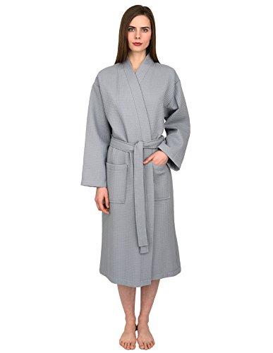 - TowelSelections Turkish Bathrobe Waffle Kimono Robe for Women and Men Medium/Large Quarry