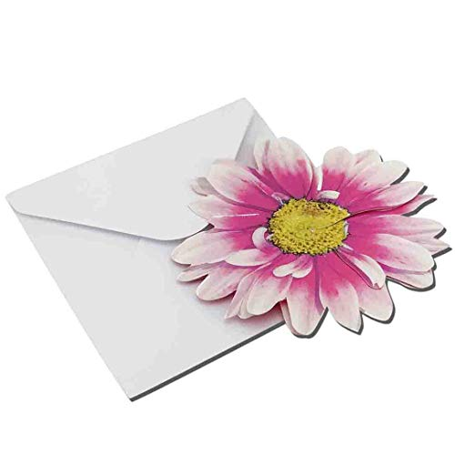 Pink 3-D Flower Pop Up Cards - 4