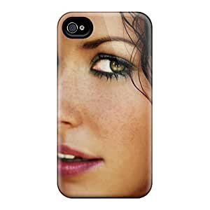 Fashion DEDITJF7005bTAhU Case Cover For Iphone 4/4s(actress Evangeline Lilly Brunetteeyes Face)