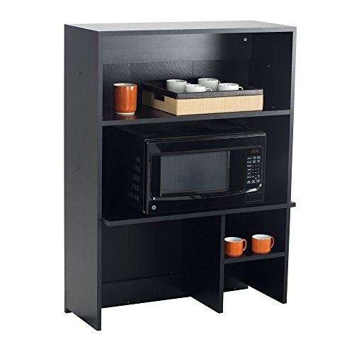 Safco Products 1706AN Modular Hospitality Breakroom Top Cabinet, Appliance Hutch, Asian Night Base/Black Top - Black Modular Base