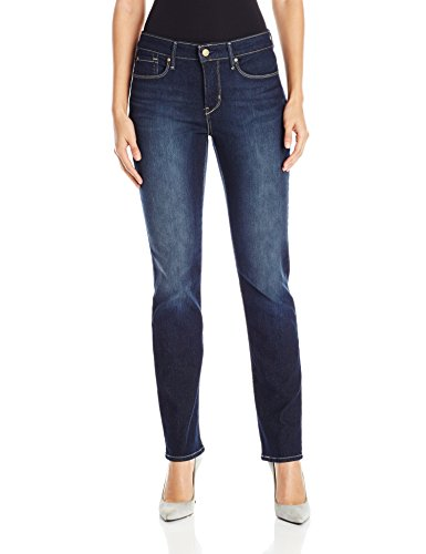 (Signature by Levi Strauss & Co Women's Totally Shaping Slim Straight Jeans, Perfection, 14 Short )