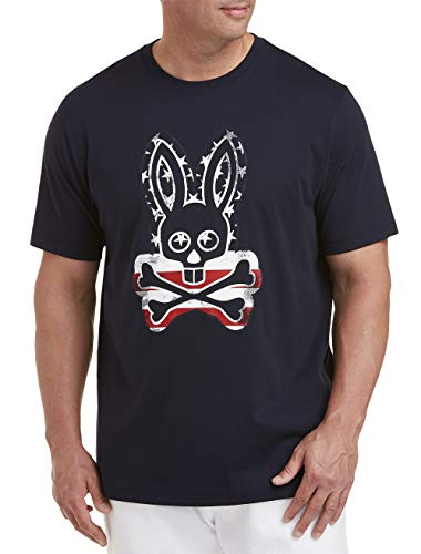 - Psycho Bunny American Flag Bunny Graphic Tee, Navy, 2XL
