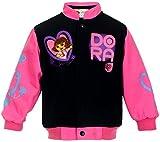 J.H. Design Girls Dora Born to Explore Snap Up Jacket Black and Pink Jacket for Toddlers