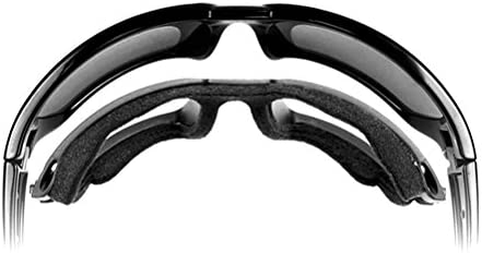 Wiley X Mens Enzo Climate Control Clear Lens Sunglasses Black One Size