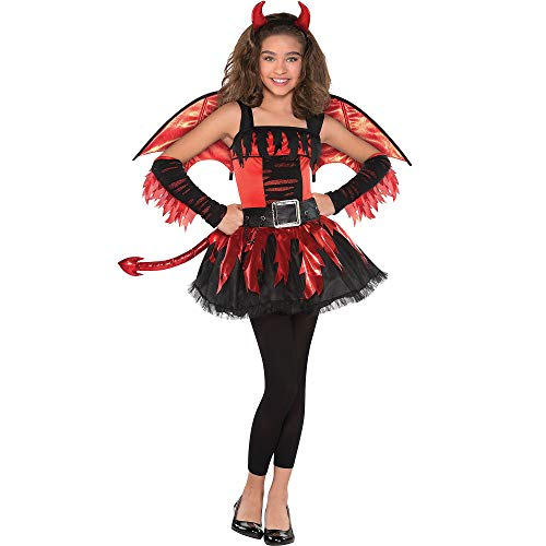 (AMSCAN Daredevil Halloween Costume for Girls, Medium, with Included)