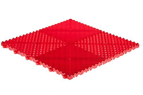 Swisstrax A504000300-2 Ribtrax Modular Flooring Tile Racing Red - Pack of 2