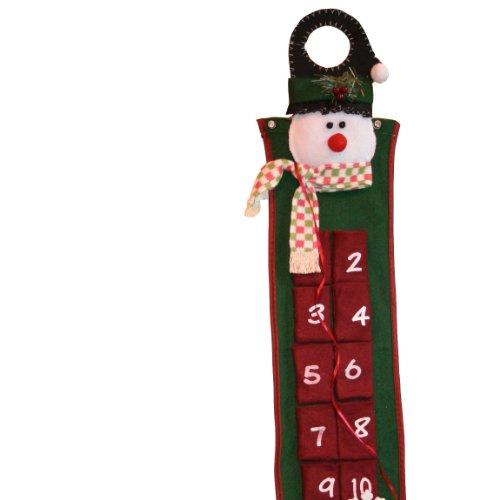 Hanging Felt Advent Calender - Snowman Design