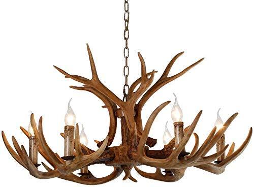 Light Antler Chandeliers Fixtures Resin Deer Antlers Dining Room Lighting Fixtures Hanging Indoor Decorative Twig Lights for Living Room Bar Cafe Dining Room
