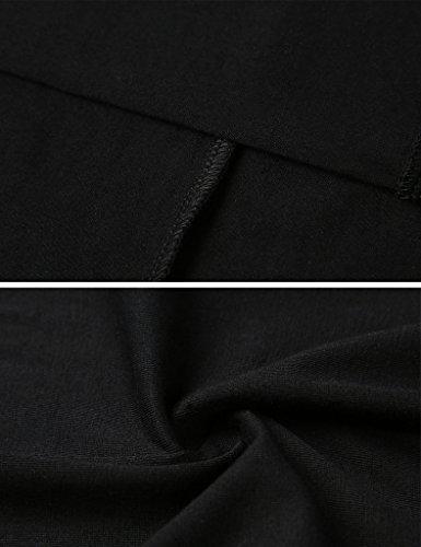 Aphratti Women's Long Sleeve Casual Peter Pan Collar Flare Dress Black Medium by Aphratti (Image #4)