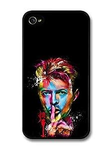 AMAF ? Accessories David Bowie Color Portrait Illustration Art case for iPhone 4 4S