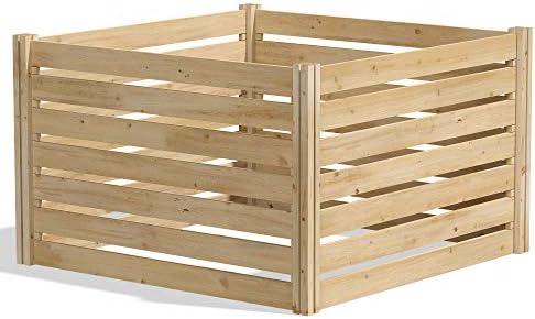 Greenes Fence RCCOMP36 Cedar Wood Composter, 36 L x 36 W x 31 H 173.92 gallons