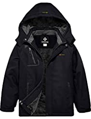 GEMYSE Boy's Waterproof Ski Snow Jacket ...