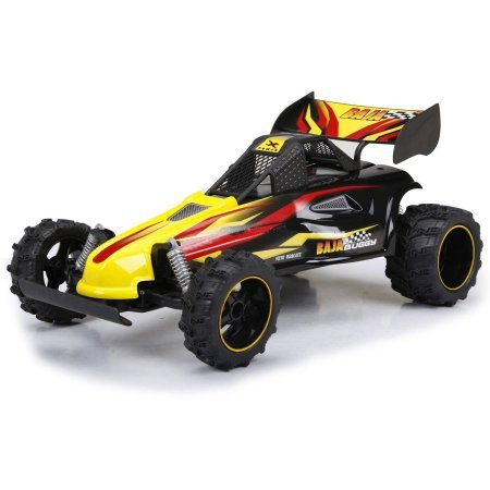 Baja Buggy Rc - New Bright 1:14 Scale RC Full-Function, 2.4GHz Baja Extreme Interceptor Buggy, Yellow