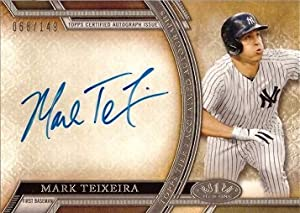 2015 Topps Tier One Acclaimed Autographs #AA-MT Mark Teixeira Certified Autograph Baseball Card – Only 149 made! - Near Mint to Mint