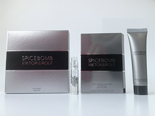 Spicebomb Viktor & Rolf Trial Kit 1.5 ml/.05 fl Oz Edt Vial & 15 ml.After Shave Balm for Men (Travel Mini Set) ()