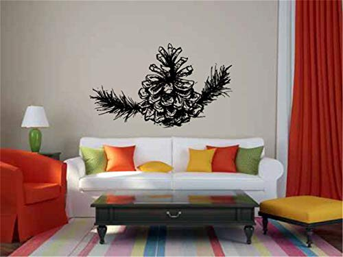 iopada Quotes Vinyl Wall Art Decals Saying Words Removable Lettering Inspired Tree Pine Cone and Branch for Living Room or Bedroom Home Decor