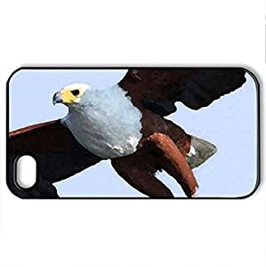 AFRICAN FISH EAGLE - Case Cover for iPhone 4 and 4s (Birds Series, Watercolor style, Black) by icecream design