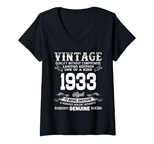Womens Funny 86th Birthday Shirts 86 Years Old Gifts V-Neck T-Shirt