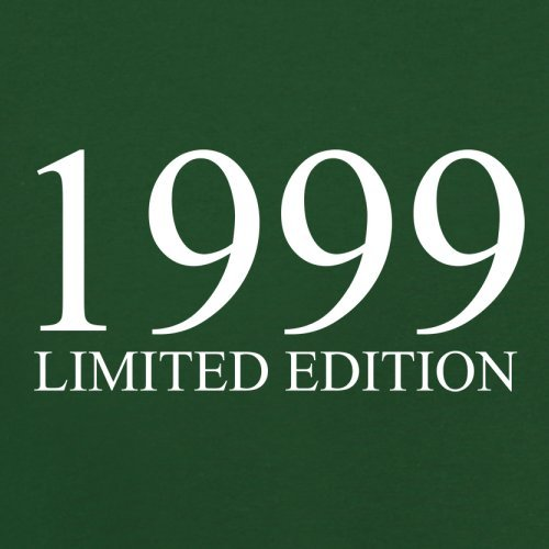 1999 Limierte Auflage / Limited Edition - 18. Geburtstag - Herren T-Shirt - Flaschengrün - XXXL