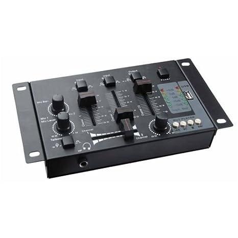 Mesa de mezclas mezclador DJ USB 2 canales Unidad MP3 USB 5 ...