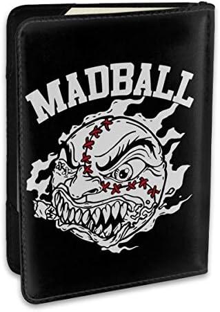 New MADBALL Hardcore Rock Band Logo パスポートケース メンズ レディース パスポートカバー パスポートバッグ ポーチ 6.5インチ PUレザー スキミング防止 安全な海外旅行用 収納ポケット 名刺 クレジットカード 航空券