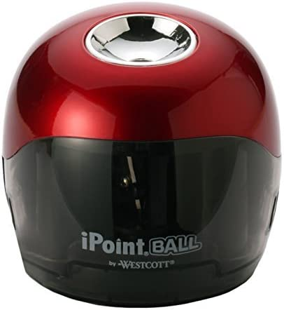 Westcott 6.5 x 3 x 6 iPoint Ball Pencil Sharpener Case of 12 Red/Black (15570) [並行輸入品]