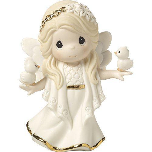 Angel Bisque (Precious Moments In His Perfect Peace And Love Seventh in Annual Angel Series Bisque Porcelain Figurine 171027)