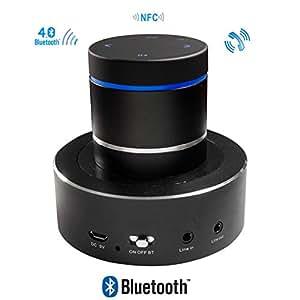 Altavoz con vibración Bluetooth NFC inalámbrico recargable 26W Adin S8BT negro vbn-s8bt