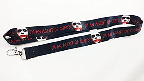 Im An Agent of Chaos Lanyard/keychain with clip for keys or id badges. Great for all Joker, Batman and The Dark Knight Movie - Cha Chains