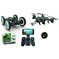 Force Flyers Land n Air 2 in 1 RC Drone Car with Hi Res FPV Camera & Altitude Hold Function H159W