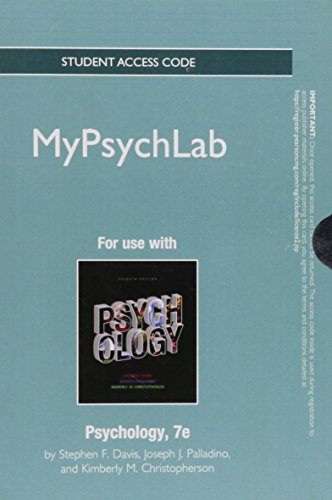 NEW MyLab Psychology without Pearson eText -- Standalone Access Card -- for Psychology (7th Edition)