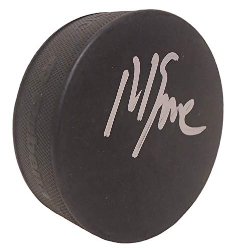 1980 Team USA Hockey Captain Mike Eruzione Autographed Hand Signed Ice Hockey Puck with Proof Photo of MIchael Signing, United States, 1980 Winter Olympics, Miracle On Ice, ()