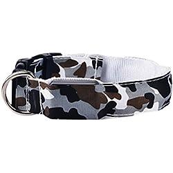 Uniquorn 2017 New Fashion LED Light Collar Camouflage Pet Collar Night Light Flash Dog Seat Belt 7 Color Optional