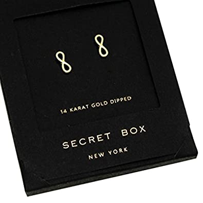 Rosemarie Collections Women's Infinity Symbol Stud Earrings WT-3137-7GLD