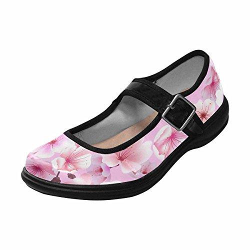 InterestPrint Womens Comfort Mary Jane Flats Casual Walking Shoes Multi 6 mnJEvA8uK9