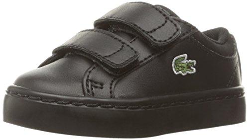 Lacoste Straightset (Baby) Sneaker, Black, 9. M US Toddler