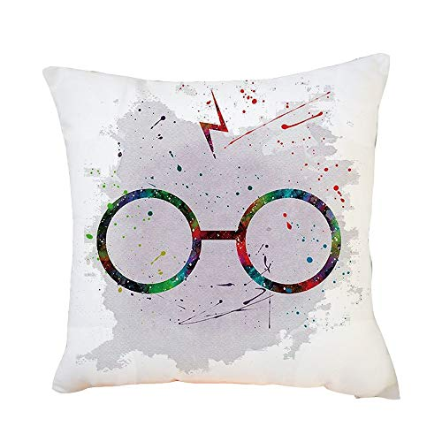 Mlide Color Graffiti Pillowcase Personalized Sofa Car Waist Throw Cushion Cover Square Home Decorative Upholstery Throw Pillow Covers45cmx45cm(C)