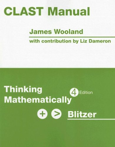 CLAST Manual for Thinking Mathematically