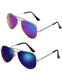 Kids Classic Aviator Sunglasses Metal Frame Children...
