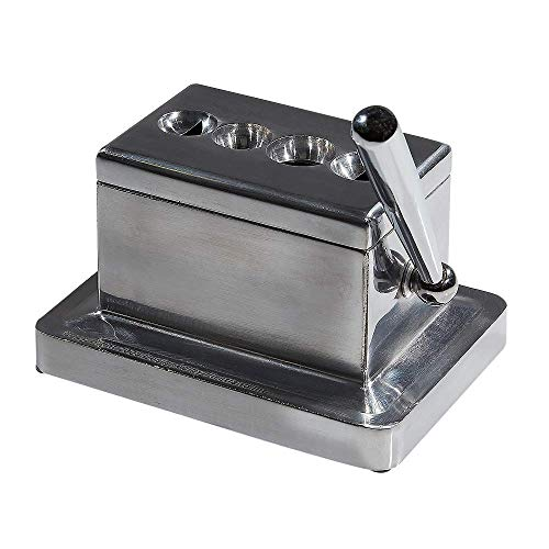Large Table Top Quad Guillotine and V Cut Cigar Cutter
