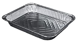 Durable Packaging Aluminum Steam Table Pan, Half-Size, Shallow, 1-11/16\