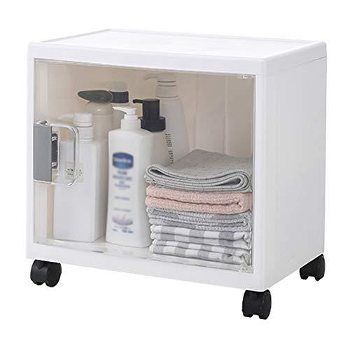 ZHANWEI Bathroom Shelf Bathroom Organiser Floor-Standing Storage Box Basin Wheeled Lockers, 6 Sizes (Color : B-40x26x38.5cm)